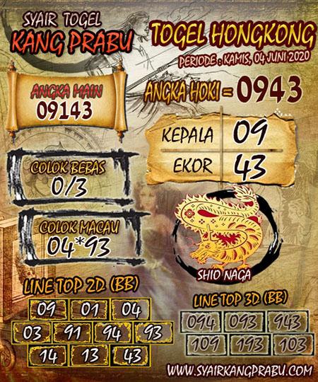 Prediksi HK Kamis 04 Juni 2020 - Syair Kang Prabu