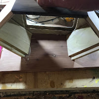 Attaching the cabinet to the base