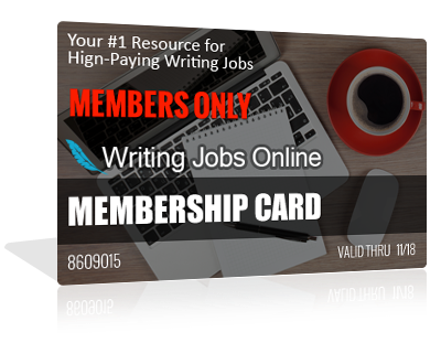 writing jobs online access to writing jobs database access to thousands of high paying work at home online writing jobs updated daily tutorials on how to become a six