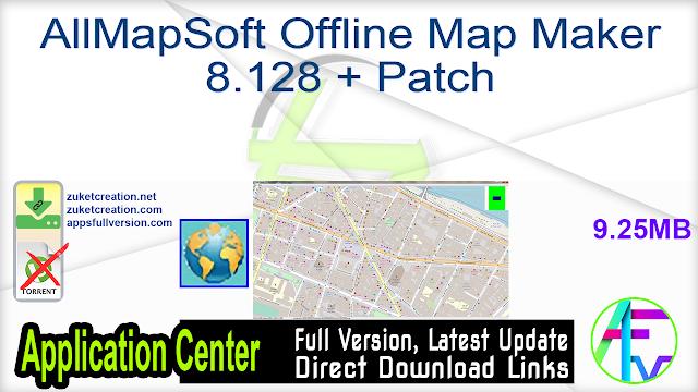 AllMapSoft Offline Map Maker 8.128 + Patch