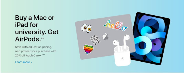 Buy a Mac or Ipad with Student email id and get Free Airpods