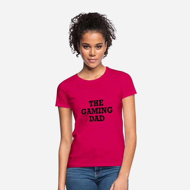 Frauen T-Shirt T Shirt Motiv The Gaming Dad