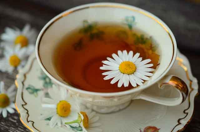 شاي الزعتر والبابونج