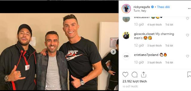 """Barca lo Juventus tạo """"địa chấn"""" chuyển nhượng: Neymar thân mật Ronaldo """"gây bão"""""""