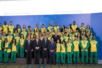 Medalhistas pan-americanos são recebidos pelo Presidente da República em Brasília