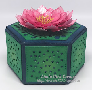 Linda Vich Creates: Waterlily Gift Box. Succulent Framelits create a waterlily that tops a lovely gift box create with the Window Box Thinlits.