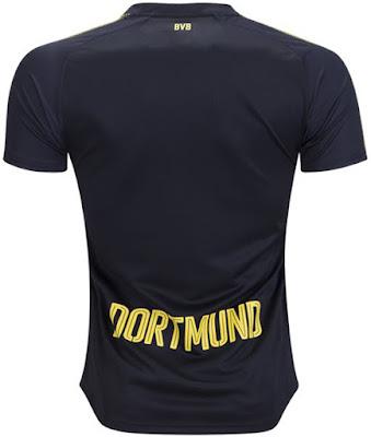 Puma Borussia Dortmund 17-18 Away Replica Shirt - Puma Black Cyber Yellow