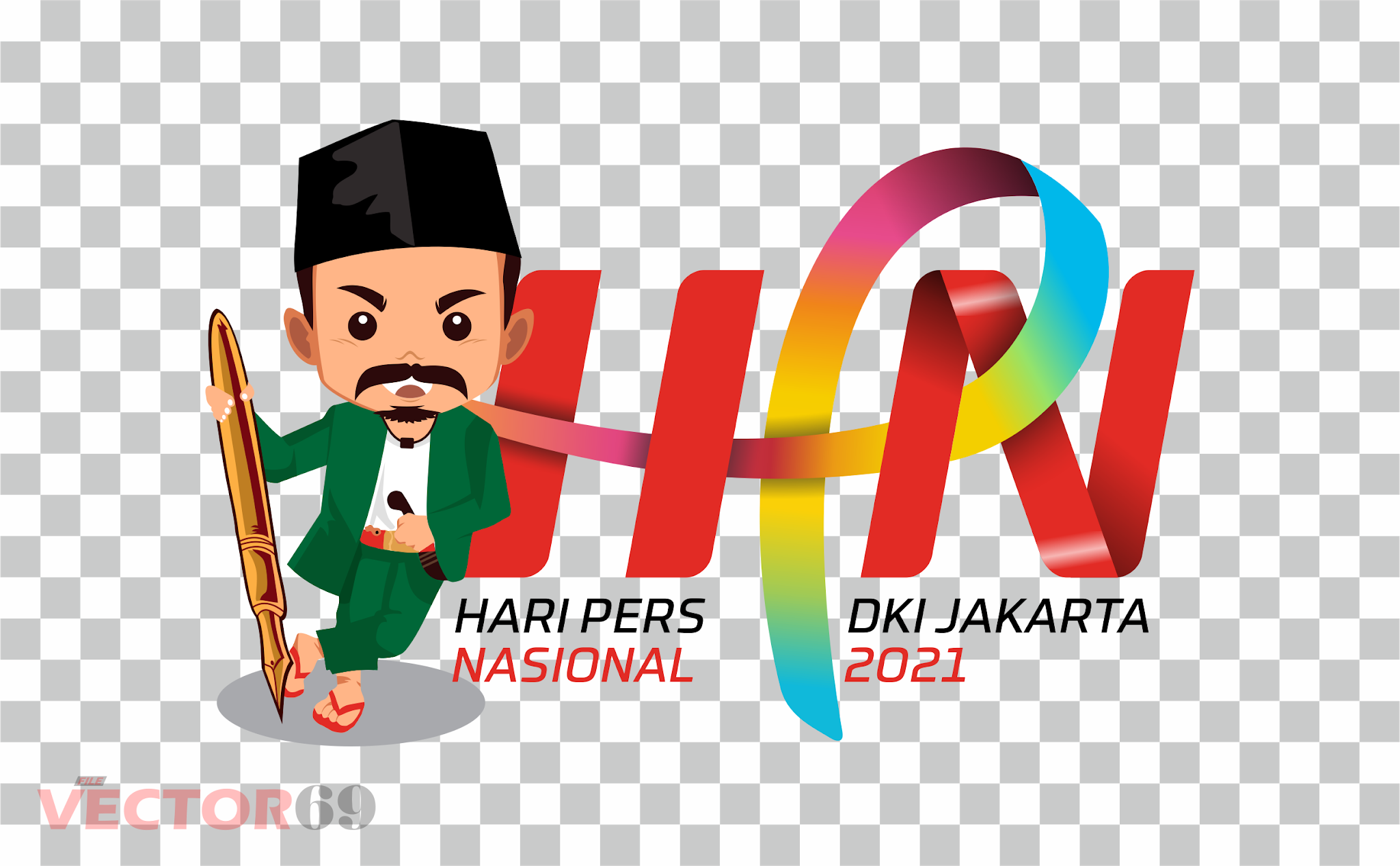 Hari Pers Nasional 2021 DKI Jakarta Logo - Download Vector File PNG (Portable Network Graphics)