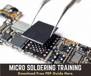 doing soldering iphone logic board