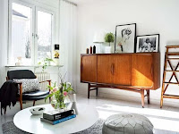 Retro cabinet idea for mid-century decorating idea