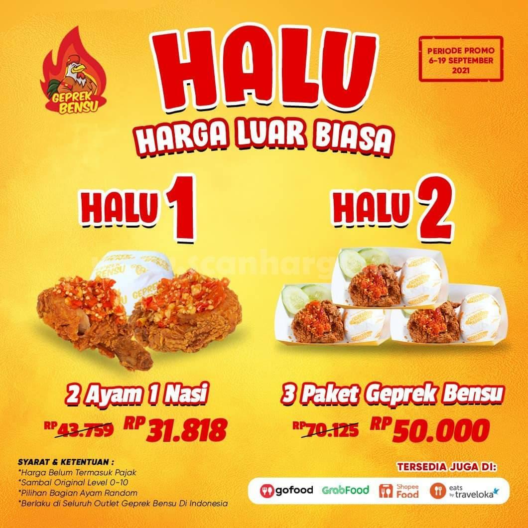 GEPREK BENSU Promo Paket HALU (HARGA LUAR BIASA) mulai 30 Ribuan