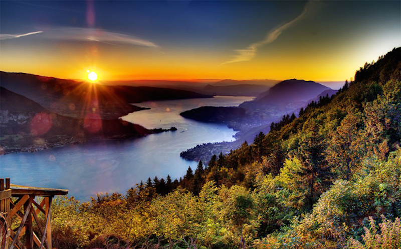 16. Lake Annecy, French Alps - 20 of The Best Places To Watch The Sunset