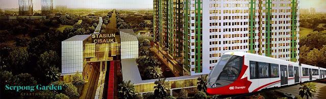 Apartemen Serpong Garden, Terkoneksi Stasiun Kereta, Harga Mulai 200 Jutaan.