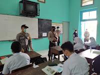 Polsek Kraton Sosialisasi Bahaya Narkoba dan Imbauan Prokes di SMPN 16 Yogyakarta