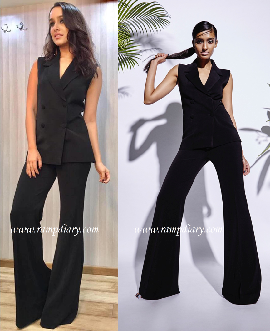 Shraddha Kapoor In a black Rutu Neeva dress for haseena parkar promotions