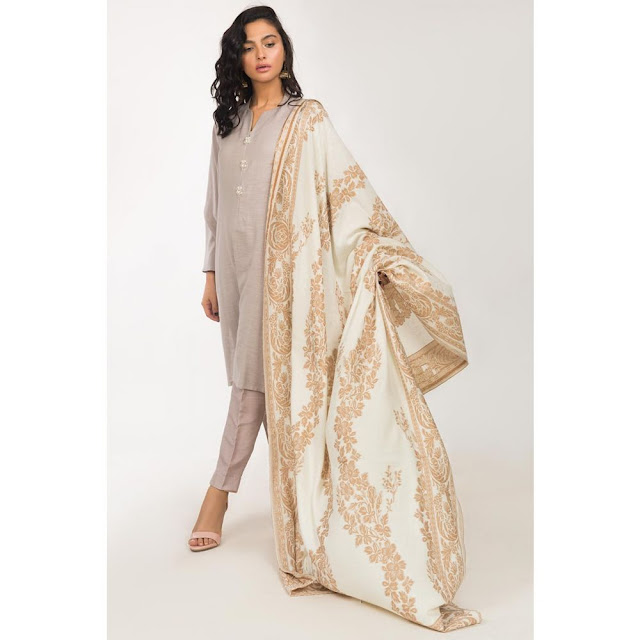 Ready to wear lilac color viscose suit winter collection