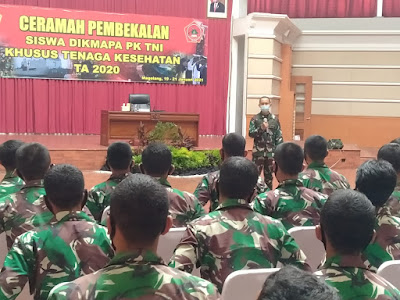164 Siswa Dikma Pa PK TNI Khusus Tenaga Kesehatan Terima Pembekalan