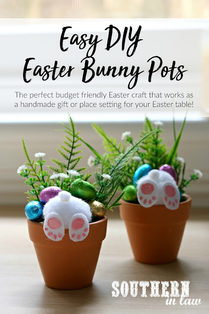Curious Easter Bunny Pots DIY Easter Craft