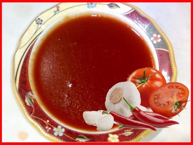 Chilli Garlic Tomato Ketchup Recipe