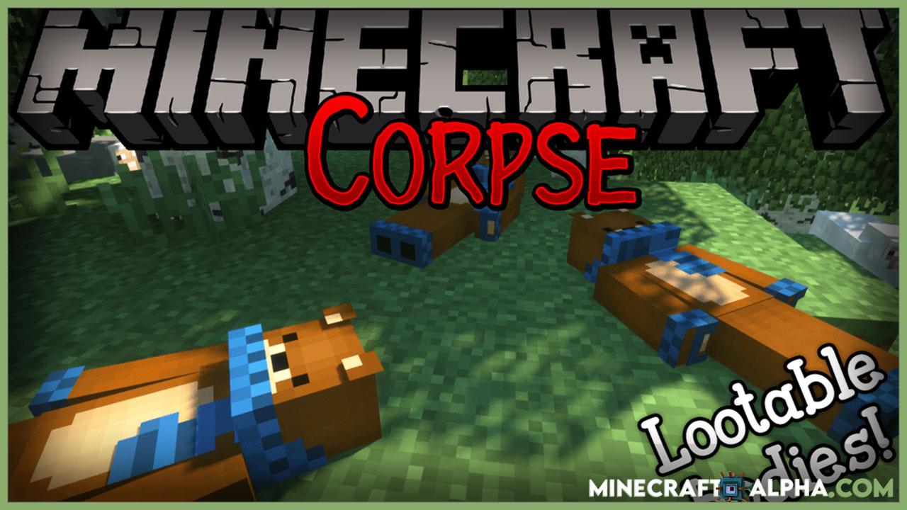 Minecraft Corpse Mod 1.17.1/1.16.5 (Lootable Bodies)