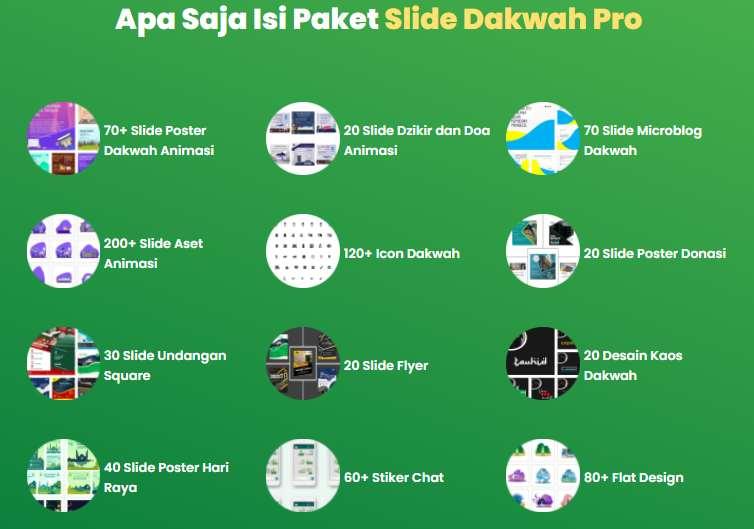 template ppt atau Power Point animasi premium dengan tema dakwah agama islam yang digunakan untuk postingan dakwah dzikir doa share hadits
