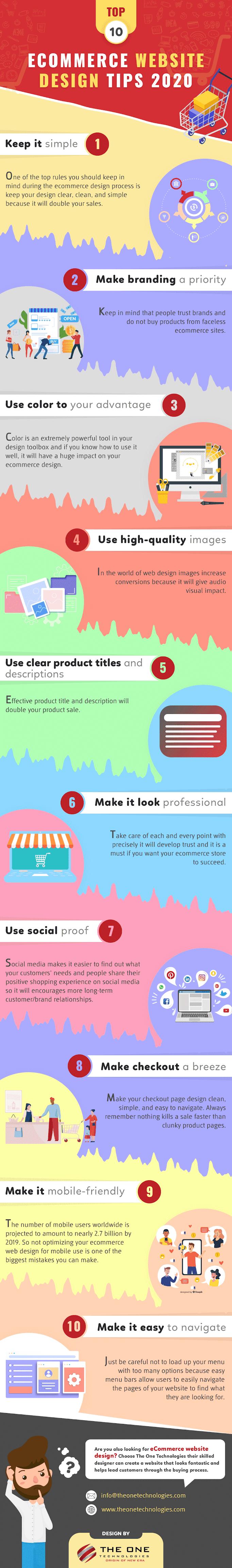 Top 10 Ecommerce Website Design Tips 2020 #infographic #Marketing #Website Design #eCommerce