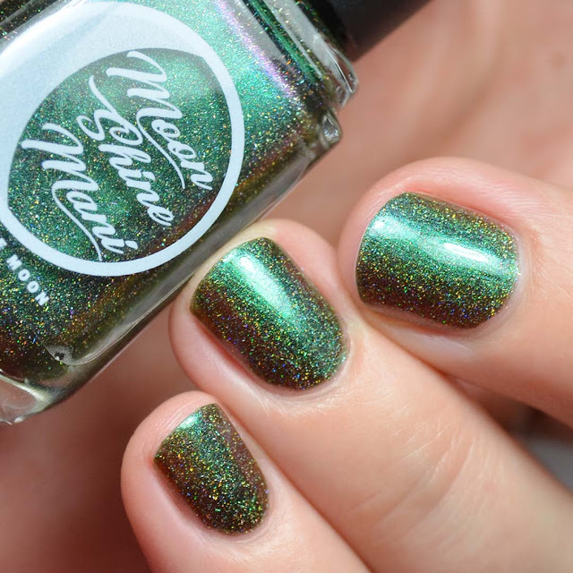 swampy green multichrome nail polish