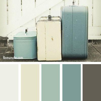 3 17 vintage furniture home decor color palettes - Gray color palette interior ...