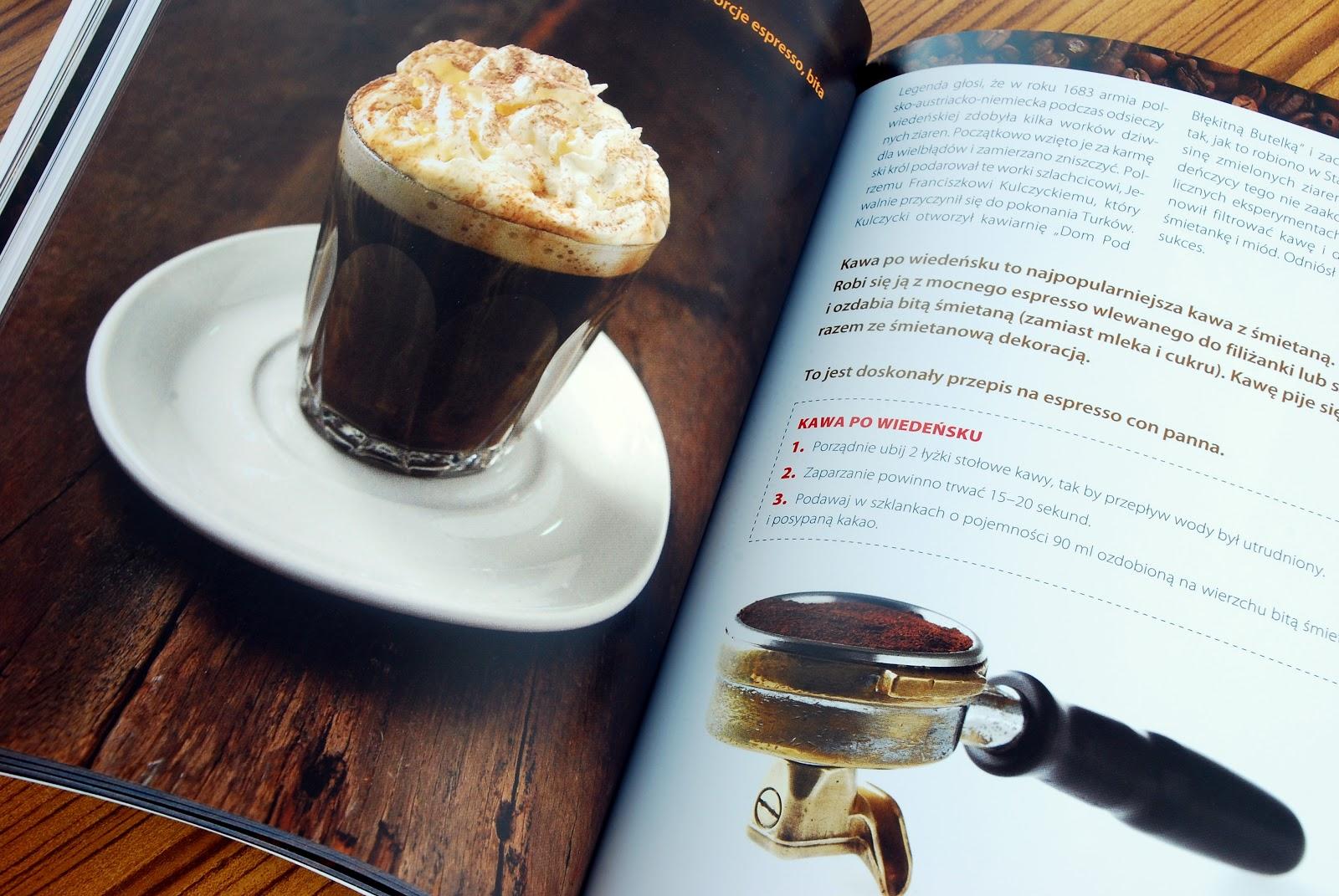 Wnętrze książki, sposób przygotowania kawy po wiedeńsku