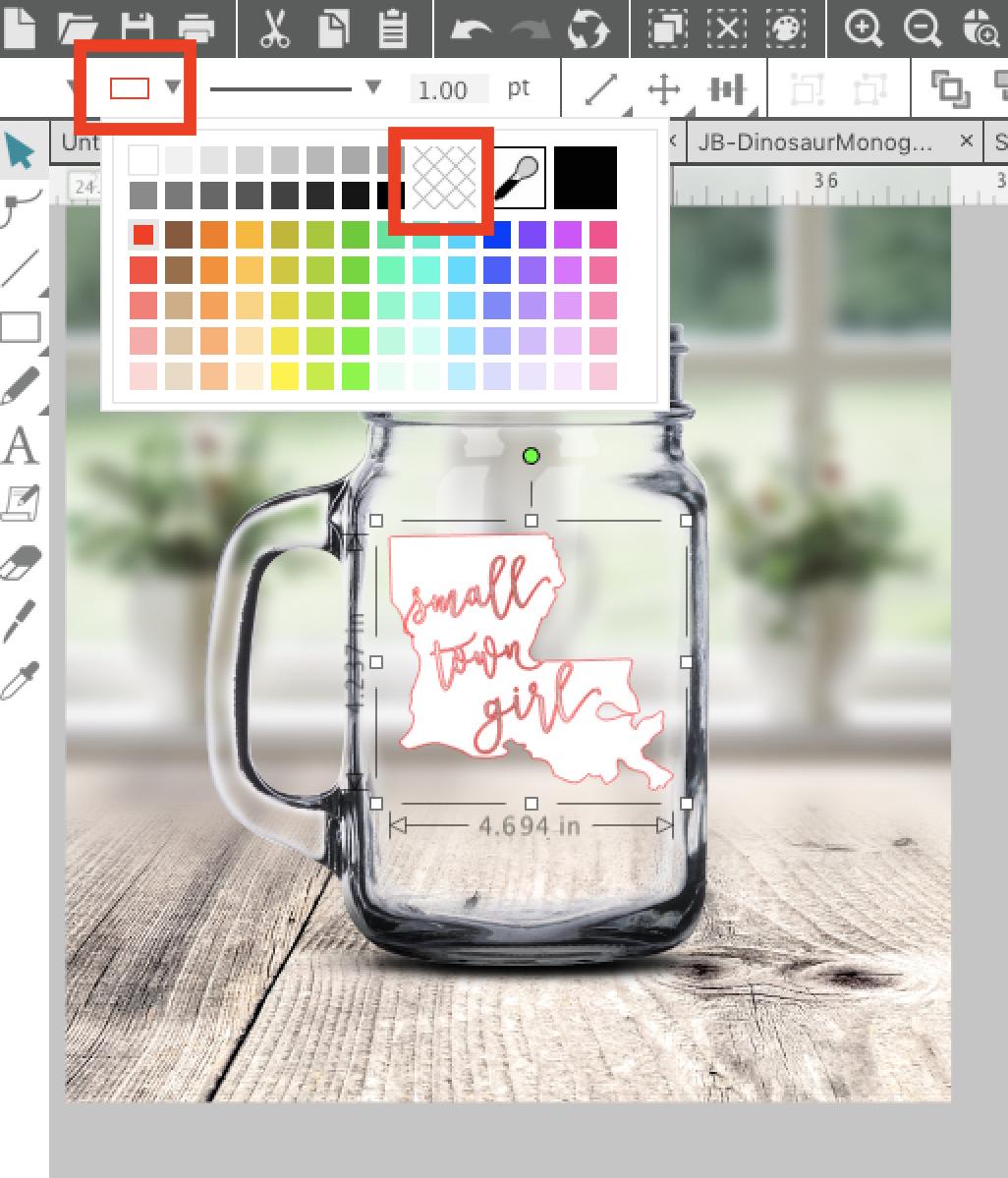 how to make mock ups in inkscape