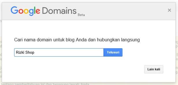 Google Domain versi beta terintegrasi dengan Blogger