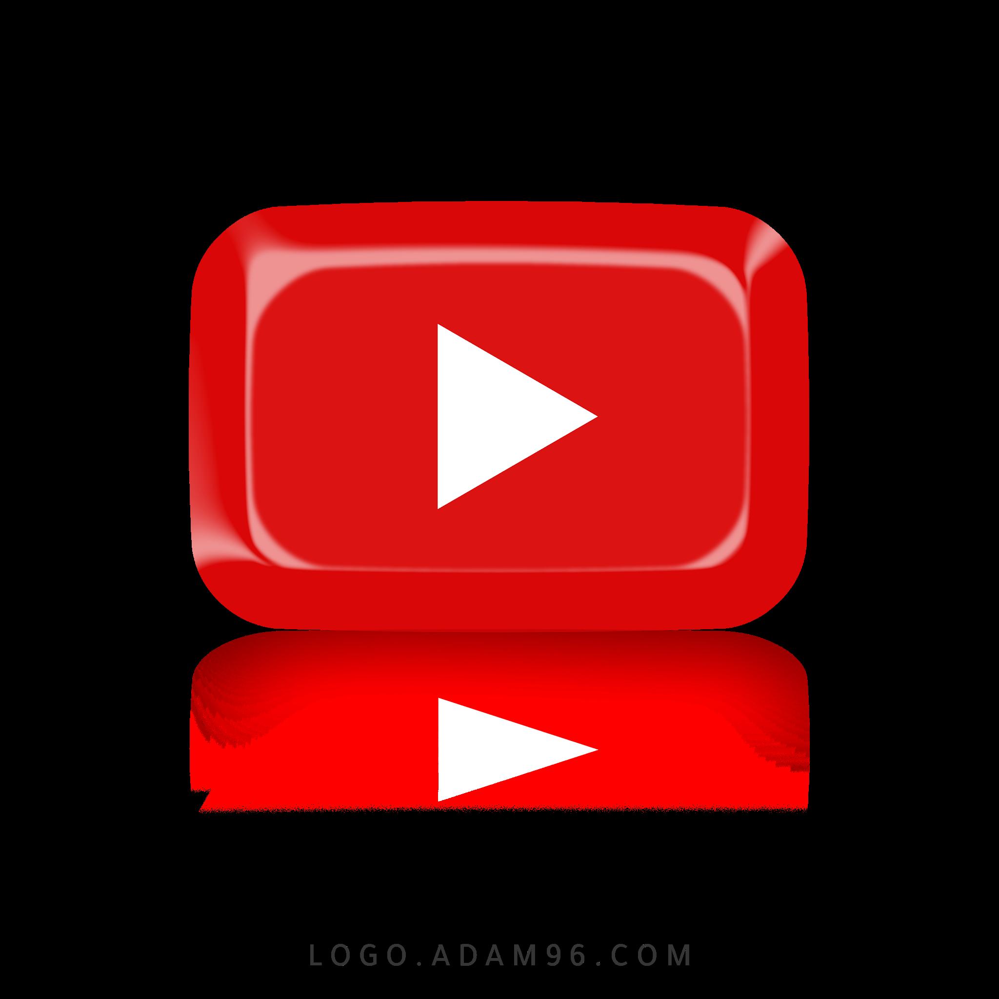 تحميل شعار يوتيوب احمر لوجو يوتيوب بصيغة شفافة Logo YouTube PNG