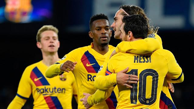 برشلونة يعود بتعادل ثمين أمام نابولي