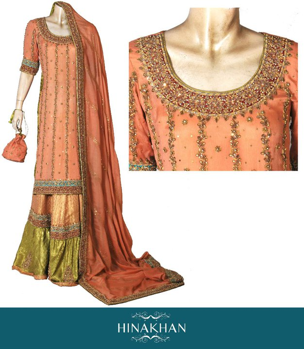 Fashion Tips Box Latest Bridal Wear Collection 2011 By Hina Khan