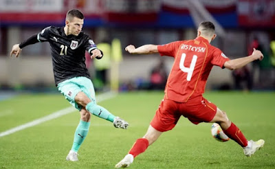 Video Cuplikan Gol: Austria 2-1 Makedonia Utara (Kualifikasi Euro 2020)