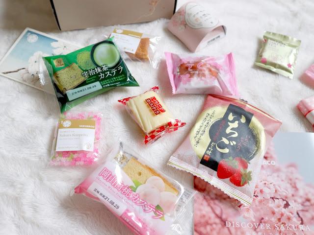 Les produits sucrés de la sakuraco box de mars.