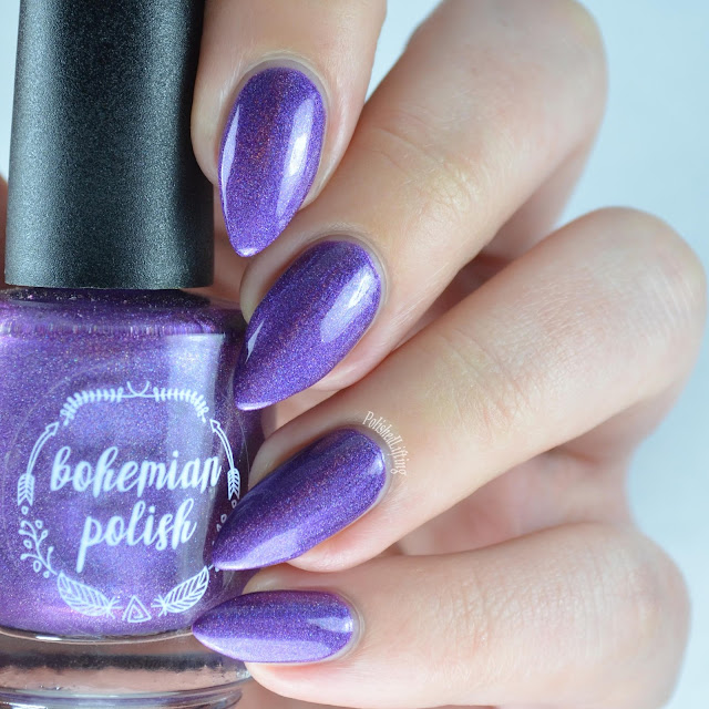 purple holographic