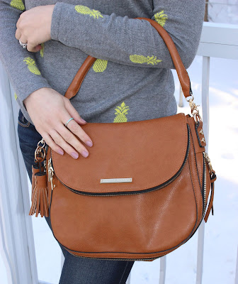 Poppy & Peonies Downtown Crossbody in Cognac