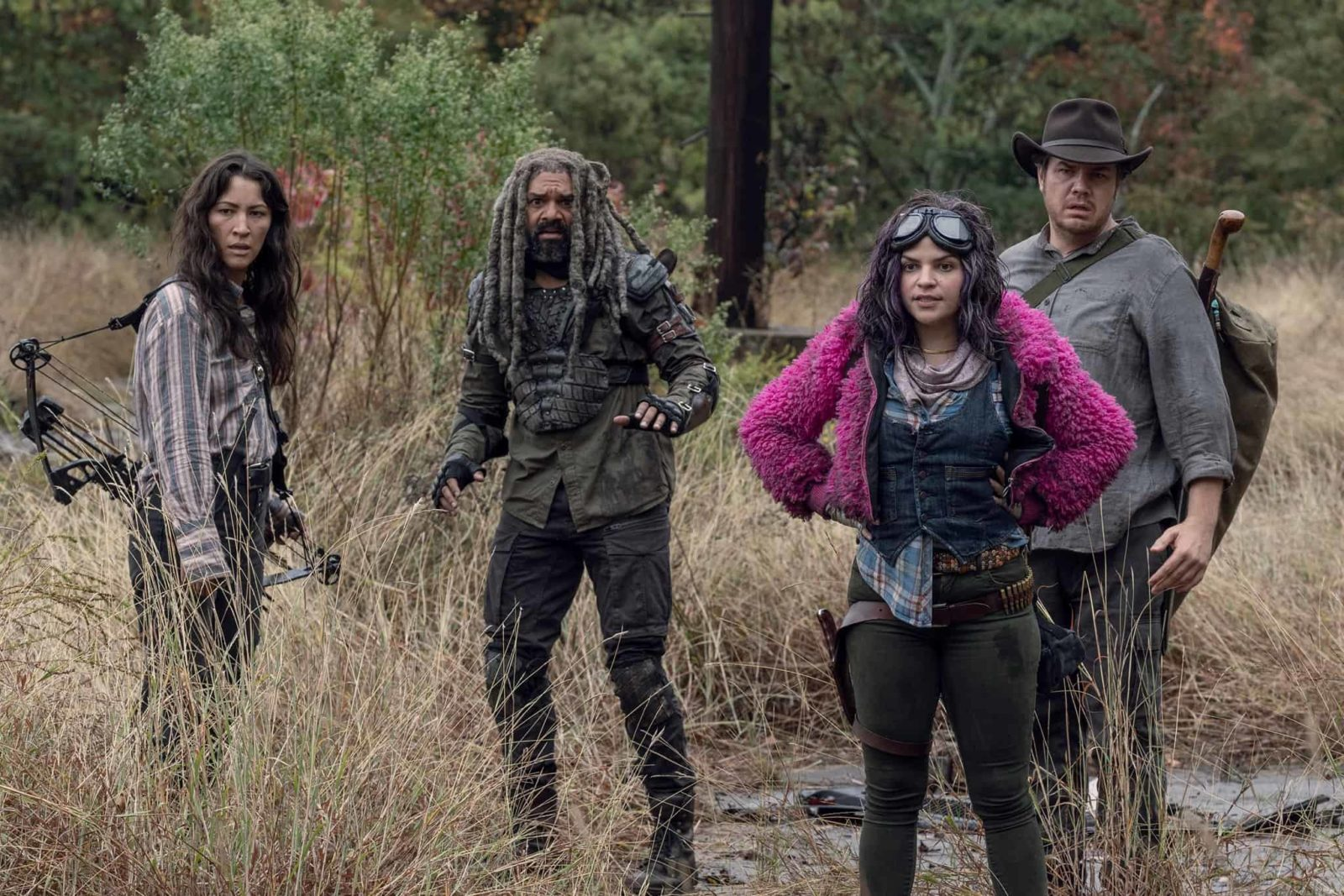 Eugene, Yumiko, Ezekiel y Princess, en el episodio 10x15 The Tower de The Walking Dead
