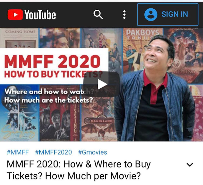 How to buy MMFF 2020 tickets online?