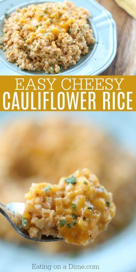 Easy Healthy Cheesy Cauliflower Rice