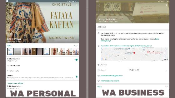 Perbedaan WhatsApp Personal dengan WA Business