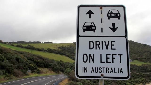 القيادة على الجانب الأيسر من الطريق