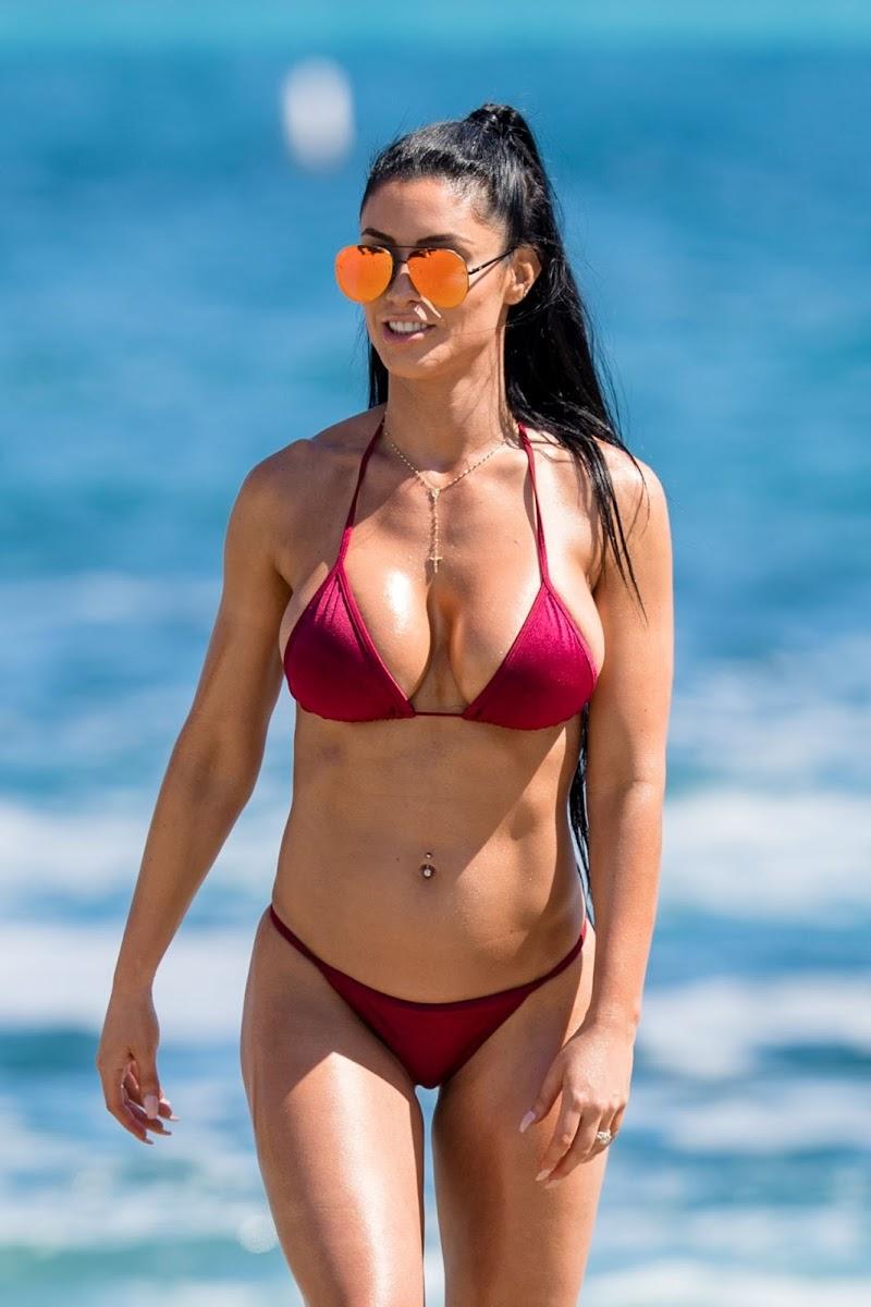 Natalie Eva Marie in Bikini – NEM Fashion Photoshoot on Laguna Beach in LA 16 Aug -2017