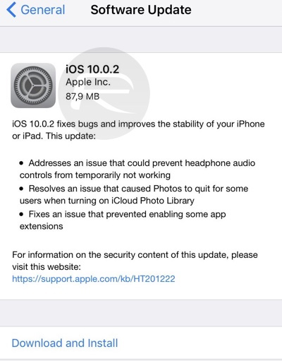 iOS 10 0 2 Download Direct Links for iPhone, iPad and iPod and touch
