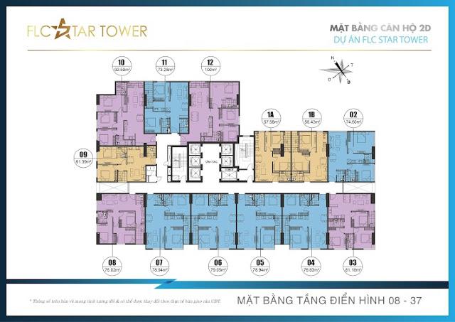 Mặt bằng chung cư Flc Start Tower