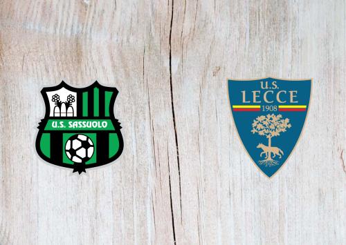 Sassuolo vs Lecce -Highlights 04 July 2020