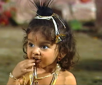 child krishna, bal krishna in shri krishna, mitti khane wala krishna