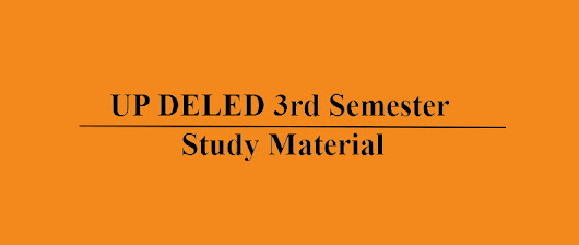 UP DELED 3rd semester study material