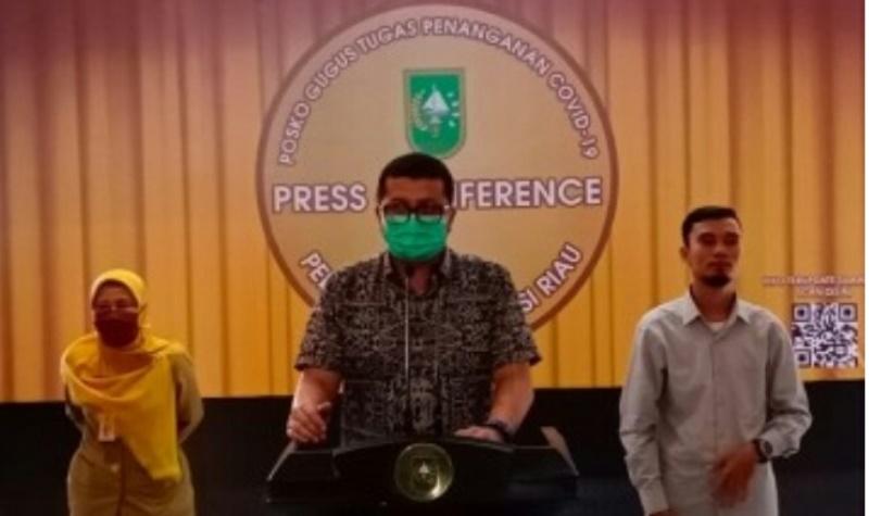 Total Positif Covid-19 di Riau jadi 40 Orang, 1  Terakhir dari Dumai